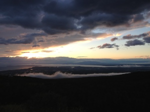 the sunset from Flat Top