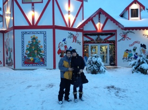 jason and i at santa's house
